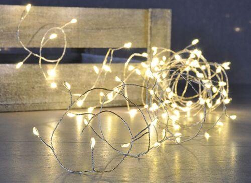 100 LED Deko Kupferdraht Lichterkette Leuchtkette Draht Licht Beleuchtung