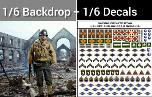 Dragon Solider Story Toys 1//6 Saving Private Ryan Backdrop and Decals for DID