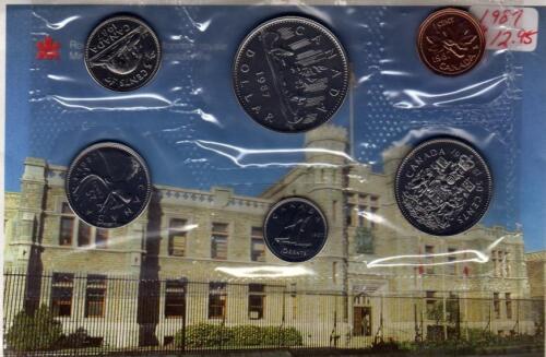 1987 Canada PL RCM Set 6 Coins UNC.