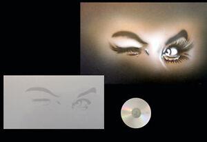 Airbrush-Schablone-Step-by-Step-Stencil-Augen-Gesicht-0452-eyes-amp-CD