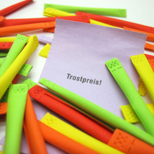 100 Regenbogenlose Tombola Lose Tombolalose Gewinnlose Röllchenlose Trostpreis