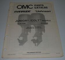 Parts Catalog OMC Ersatzteilkatalog Junior / Colt Models Johnson Evinrude 1987!