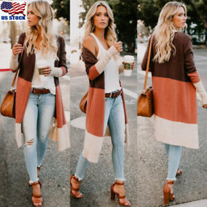 Plus-Size-Womens-Long-Sleeve-Knitted-Cardigan-Sweater-Casual-Outwear-Coat-Jacket