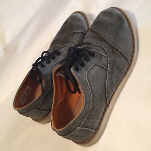 Womens Toms Lace Up Shoe Gray Size 3
