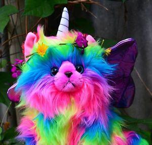 (Rainbow,Butterfly,Unicorn,Kitten) KITCHI - KITTEN Fluffy ...
