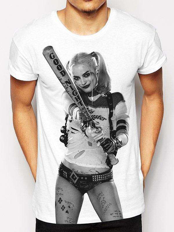 Official licensed-suicide squad-harley quinn t sublimation t quinn shirt joker b52c18