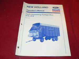 New-Holland-816-818-Forraje-Vagon-Opeator-039-s-Manual