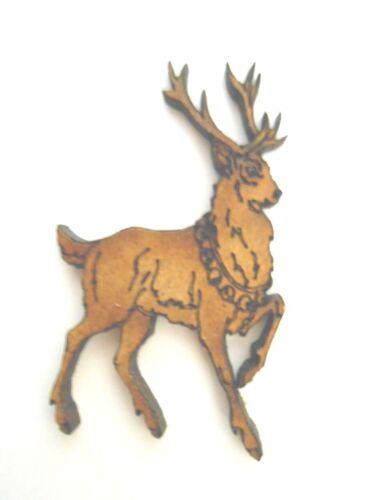10x en bois noël renne formes gift tag carte artisanat scrapbook embellishment