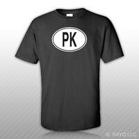 Pk Pakistan Country Code Oval T-shirt Tee Shirt Free Sticker Pakistani Euro