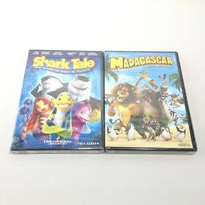 LOT 2 Kids Animated DVD Movies MADASCAR +  SHARK TALE (DVD, Full Screen) NEW