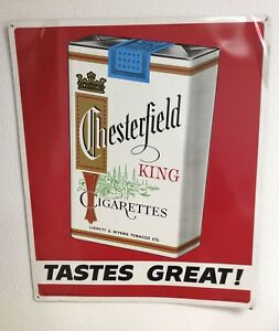Chesterfield King Cigarettes Vintage Sign Ebay