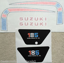 SUZUKI  TS185C PETROL TANK AND SIDE PANEL DECAL SET