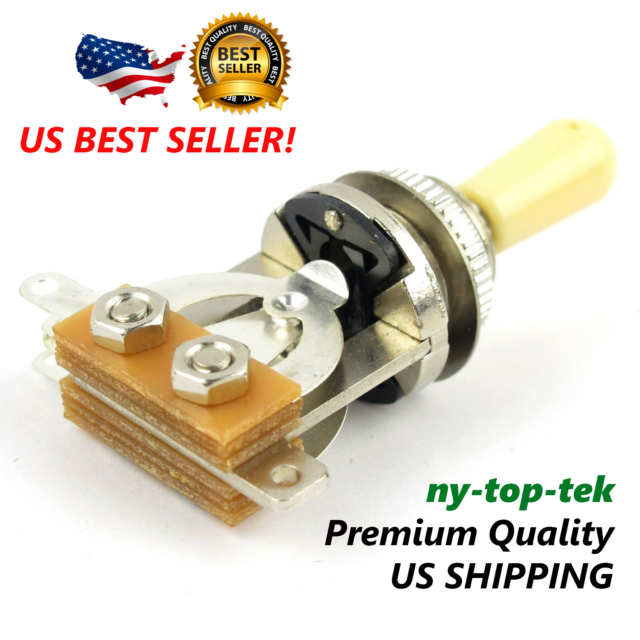*NEW 3 Position Toggle Switch for Epiphone Les Paul Guitars Gold Black Tip