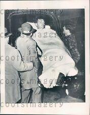 1948 Survivor of Tugboat Natchez Loaded in Ambulance Greenville MS Press Photo