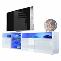 Large Television Cabinet White High Gloss Tv Stand Wooden Furniture Luxury A