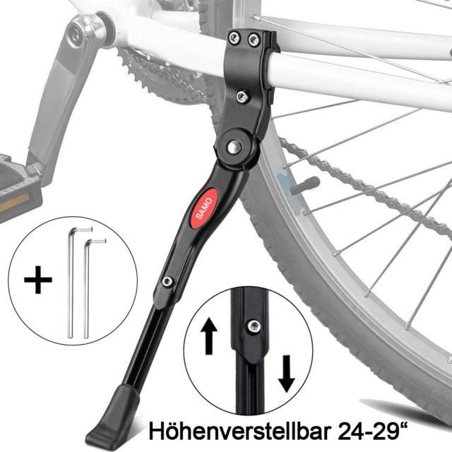 """Point Fahrradständer Seitenständer Ständer 24-28/"""" verstellbar schwarz"""