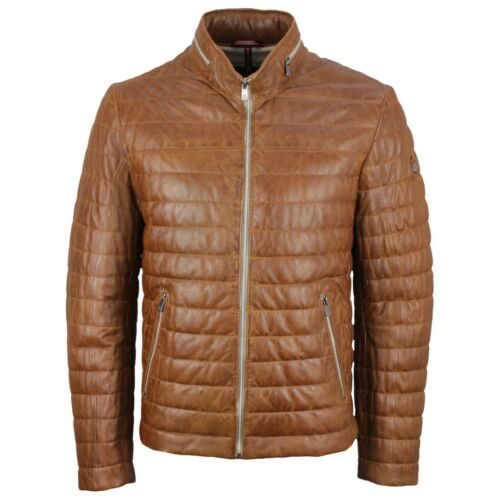 Milestone Men's Leather Jacket Cognac Brown Tereno 991015 24