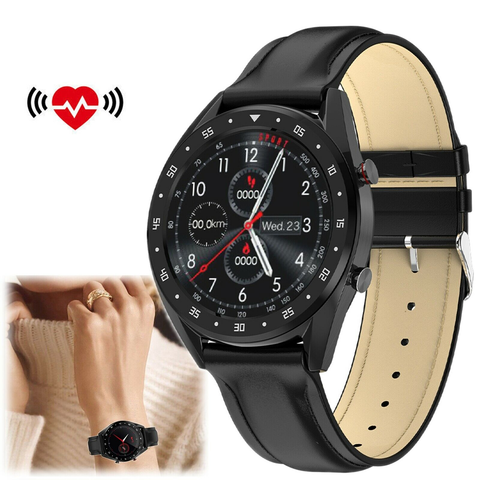 Bluetooth Smart Watch Heart Rate Wristwatch for iPhone Samsung S10 S10e S9 S8 S7 bluetooth Featured for heart iphone rate s10 samsung smart watch wristwatch