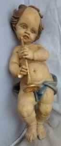 Clever Antike Holzfigur Engel Putte Nr. 3234/2 KöStlich Im Geschmack
