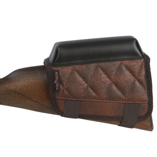 TOURBON Rifle Shooting Cheek Rest Riser Shells .22LR Holder Vintage PU Leather