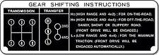 Shift Plate Toyota Land Cruiser FJ40 FJ45 BJ40 H42 5 Speed Twin Stick  Instruct.