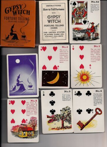 Gypsy Witch SEALED SET of Fortune Telling Playing Cards-Version 2
