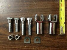 CHROME PASSENGER FOOTPEG CLEVIS MALE FOOT PEGS HARLEY SOFTAIL FXST FLST 2000-06