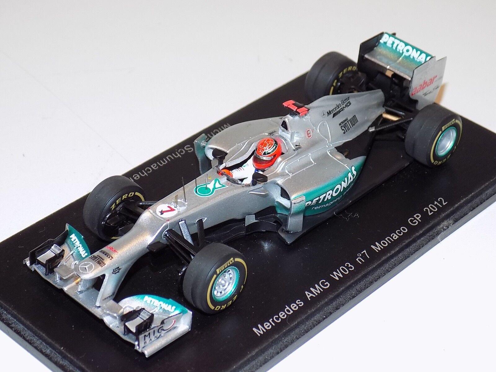 1 43 Spark Mercedes AMG W03 car Monaco  GP 2012 M.Schumacher S3042