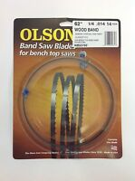 Olson Band Saw Blade 62 X 1/4, 14tpi For Craftsman 21419, Skil 3104 & Grizzly