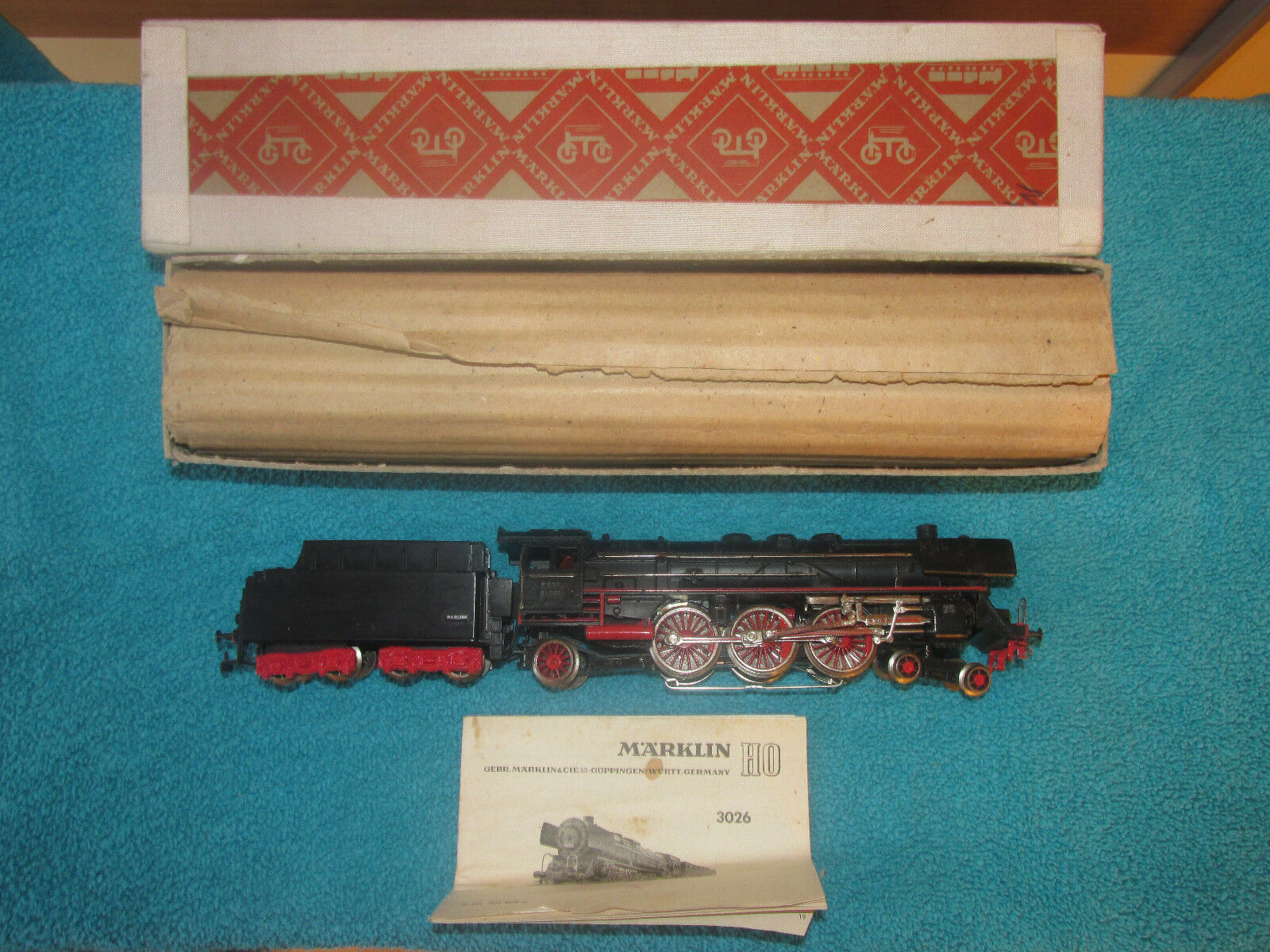 Märklin H0 3026 Typ 1 Locomotora Ténder Br 01 Db, Bn 01 097 , Embalaje Original