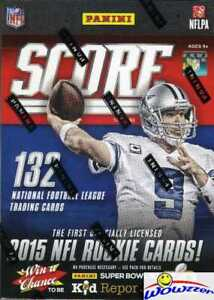 2015-Score-Football-HUGE-Factory-Sealed-Blaster-Box-11-Packs-132-Cards-RELIC