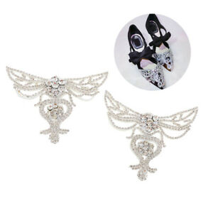 61fdfcaaf13e Stunning White Pair Sewing On Rhinestone For DIY Wedding Dress Shoe ...