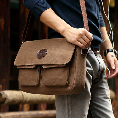 Cool Vintage Canvas Shoulder Messenger Bag Casual Retro Sports Satchel Bags MENS
