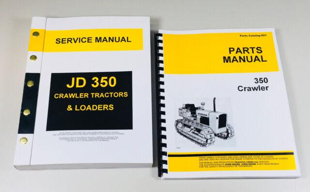 John Deere 350 Crawler Tractor Service Parts Manual Catalog Technical Repair