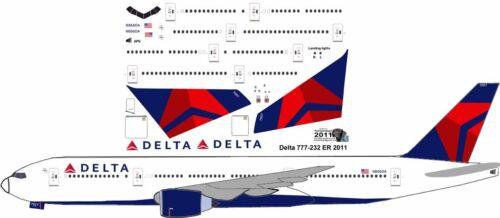 Delta Boeing 777-200 pointerdog7 decals for Minicraft 1//144 kit