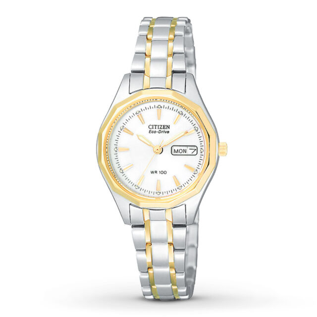 NEW Citizen Eco-Drive Women's EW3144-51A Silhouette Sport Two-Tone 27mm Watch