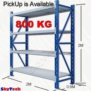 2m garage storage warehouse shelves shelving racking metal steel rh ebay com au metal warehouse shelves metal racking storage