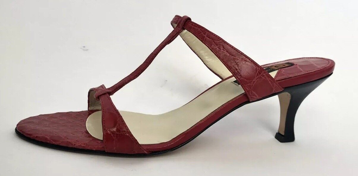 alta qualità Giorgio's Of Palm Beach donna scarpe Dimensione Dimensione Dimensione 8.5 New Genuine Alligator Leather Red  vendita online risparmia il 70%