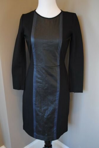 NWT J Crew Leather Panel Dress Day to Night 0 XS B1715 $228