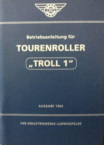 Manuale di istruzioni IWL ROLLER troll 1 DDR Oldtimer SCOOTER IFA BLU