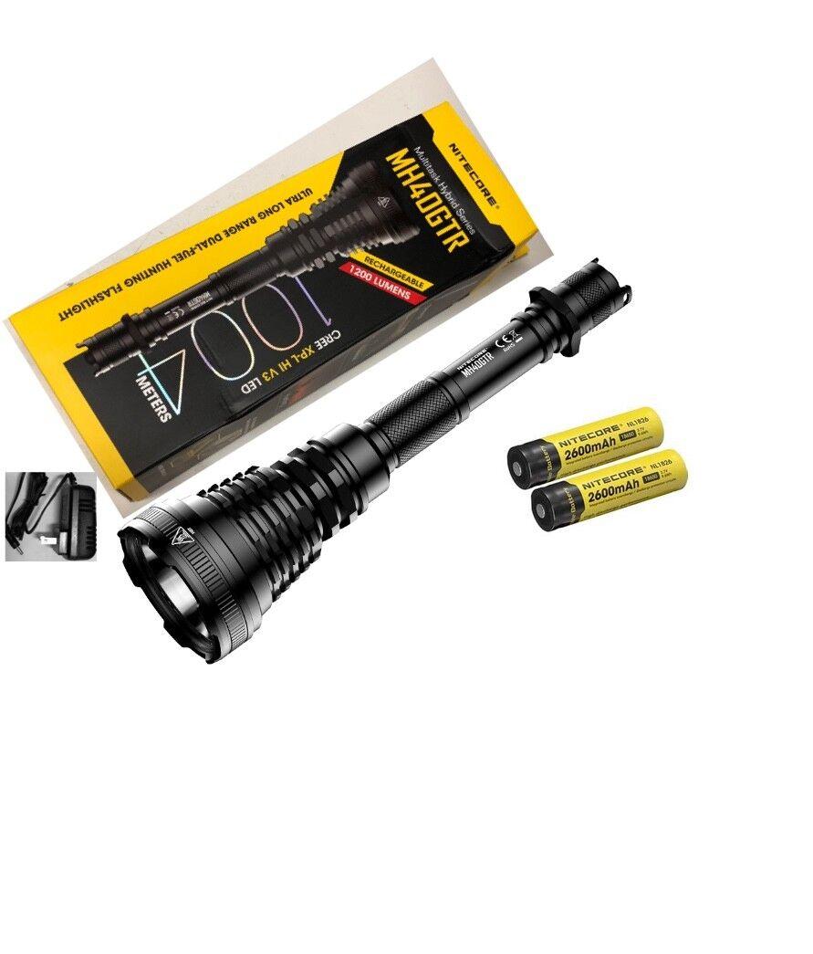 Nitecore MH40GTR Rechargeable Flashlight -1200 Lumens -CREE XP-L HI V3 LED