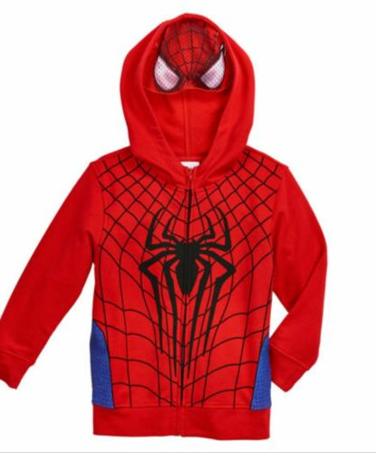 The Amazing Spiderman 2 Zip-Up Hoodie Childs Size 5 6 7 New Sweatshirt Marvel