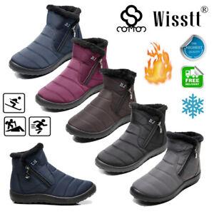 Unisex-Women-039-s-Ankle-Warm-Boots-Ladies-Slip-On-Waterproof-Snow-Boot-Winter-Shoes