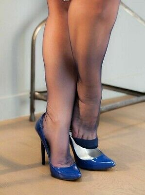 Gio Point heel FF Seconds, Stockings Seamed Fully