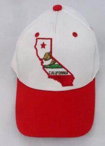bce5675b6d0 NEW MENS RUE21 CALIFORNIA BEAR WHITE BASEBALL HAT CAP ONE SZ ...