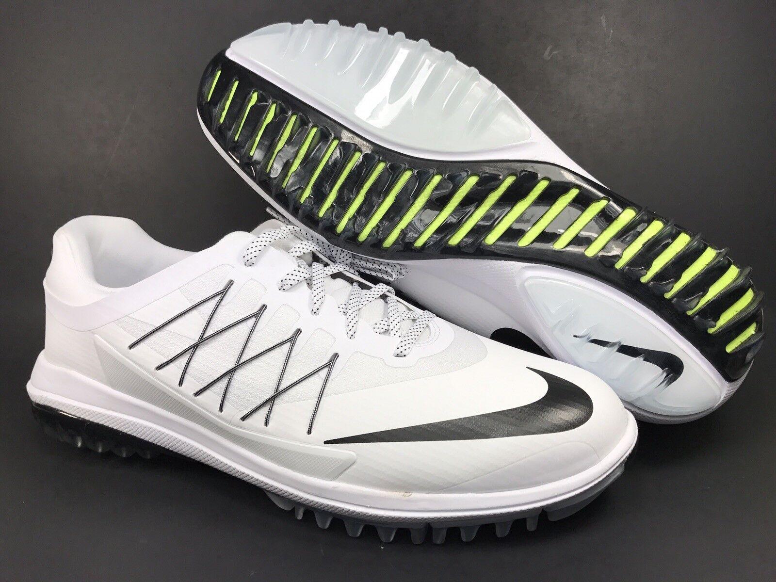 Nike lunar controllo vapore Uomo Uomo vapore scarpe da golf bianco nero scarpette spuntoni dimensioni 11,5 dda863