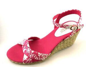 Ralph-Lauren-Callia-Womens-Pink-Floral-Espadrille-Size-8