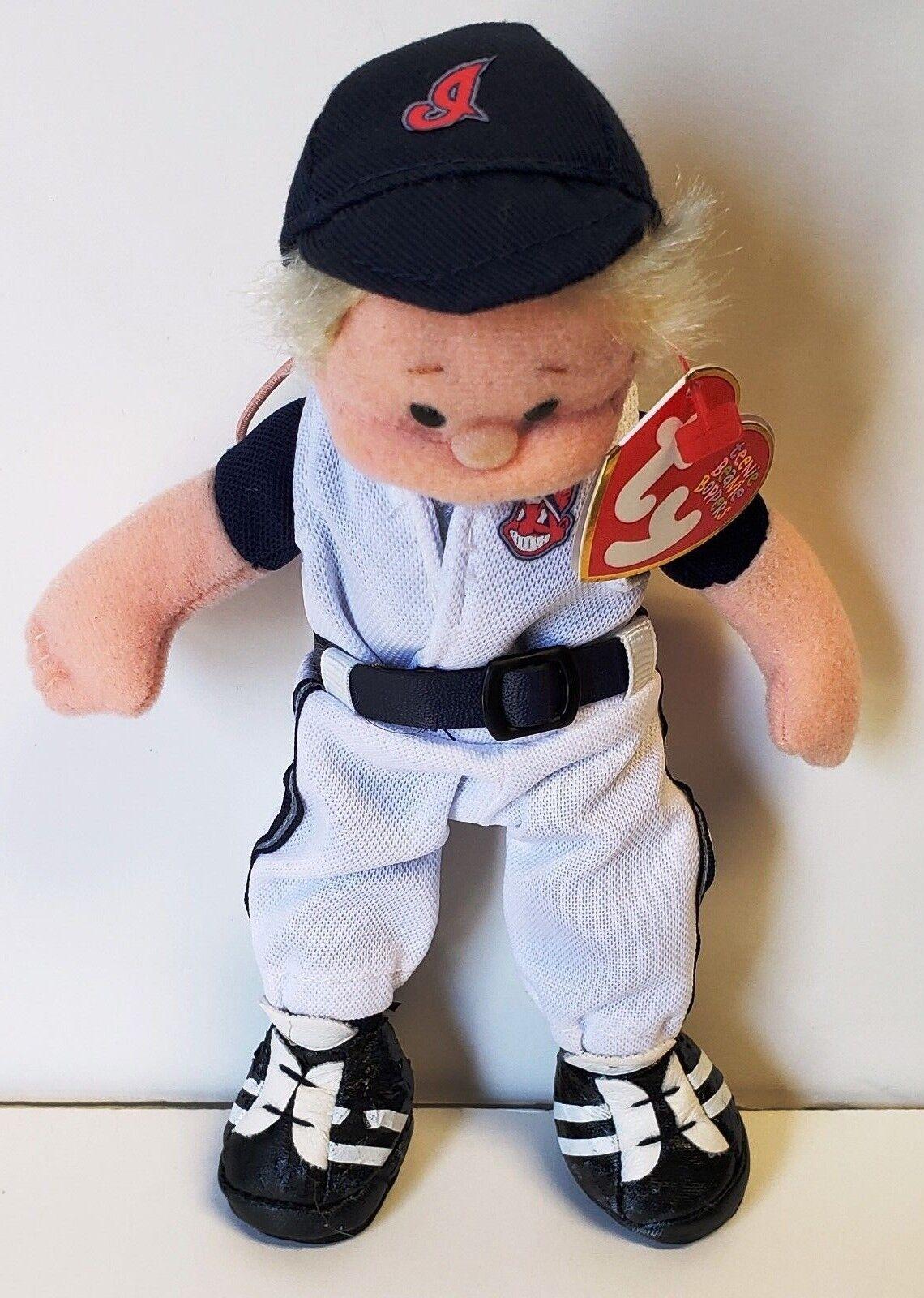 venta al por mayor barato Ty Teenie Beanie Boppers Boppers Boppers Wahoo Wally (retirado) los Indios de Cleveland MLB Menta/ Raro  punto de venta