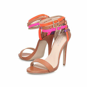 Eu vendita close Strappy Uk 41 Shoes Leather Tan Pink in Carvela Stiletto 8 78CwqCH