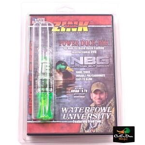 ZINK-CALLS-NBG-NOTHING-BUT-GREEN-POLY-MALLARD-HEN-DUCK-CALL-W-DVD-LEMON-DROP